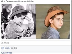 Post com desabafo do padrasto teve mais de 6 mil compartilhamentos (Foto: Reprodução/Facebook)