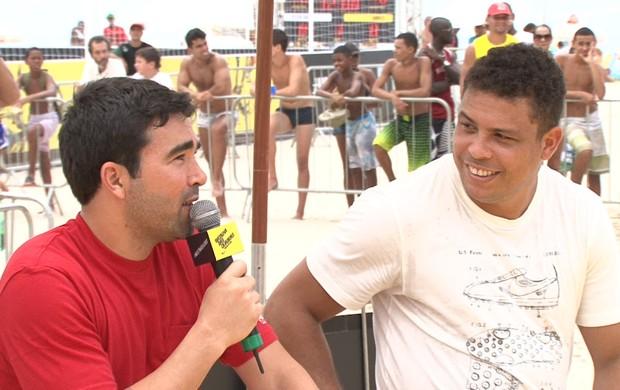 Deco e Ronaldo no Batalha das Quadras (Foto: Daniel Cardoso (Globoesporte.com))