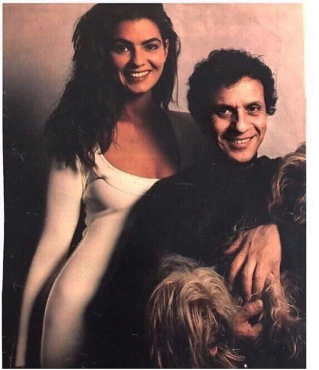 Luiza Brunet também resgatou uma foto do passado para homenagear o estilista (Foto: reprodução/instagram)