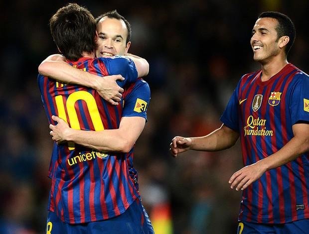 Messi comemoração Barcelona (Foto: Getty Images)