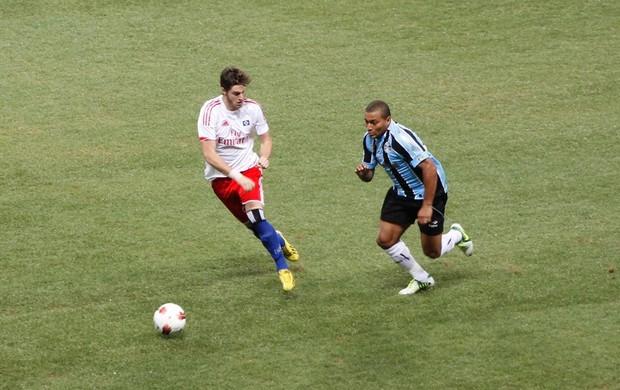 Pico e Hamburgo, do Grêmio, na Arena (Foto: Lucas Rizzatti/GLOBOESPORTE.COM)