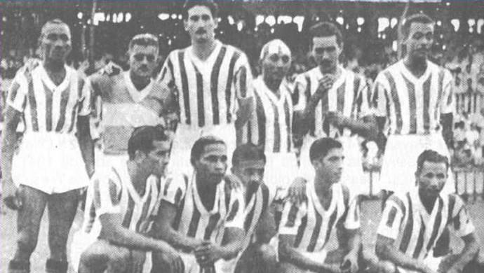 Time do Paysandu que goleou o Remo e conquistou o tetracampeonato estadual (Foto: Reprodução/site oficial do Paysandu)