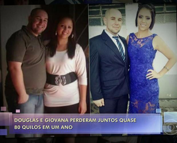 Douglas e Giovana decidiram emagrecer juntos (Foto: TV Globo)