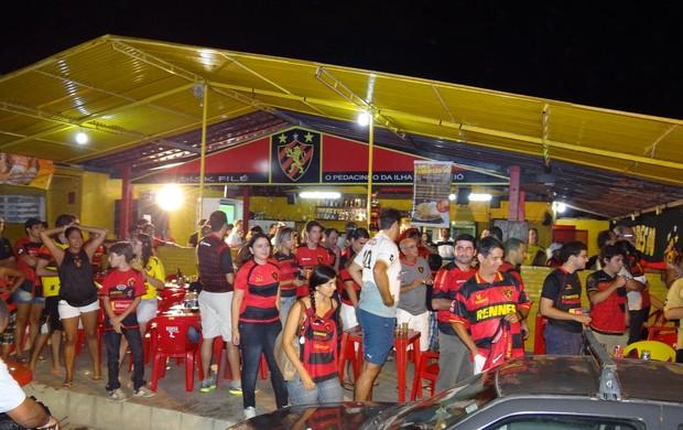 Torcida do Sport em Maceió (Foto: Lula Moraes/Globoesporte.com/PE)