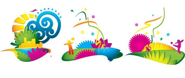 Desenhos da identidade visual da Fifa para a Copa do Mundo de 2014 (Foto: Divulgação / FIFA.com)