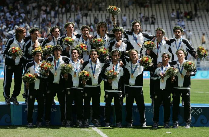 Argentina medalha de ouro Atenas 2004 (Foto: Getty Images)