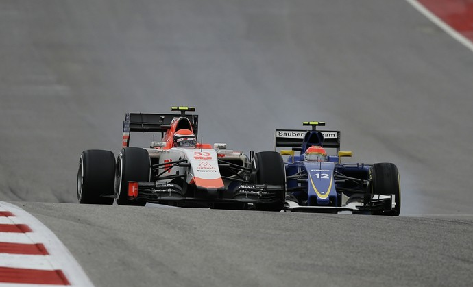 Felipe Nasr caiu para último, mas se recuperou e cruzou em nono no GP dos EUA (Foto: AP)