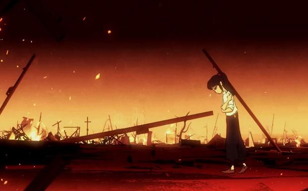 BBC produziu uma animação a partir do relato da sobrevivente Bun Hashizume (Foto: BBC )