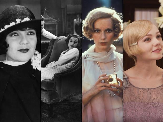 Da esq. para dir., as atrizes que já interpretaram Daisy Buchanan no cinema: Lois Wilson, em 1926; Betty Field, em 1949; Mia Farrow, na versão de 1974; e Carey Mulligan na de 2013 (Foto: Divulgação)