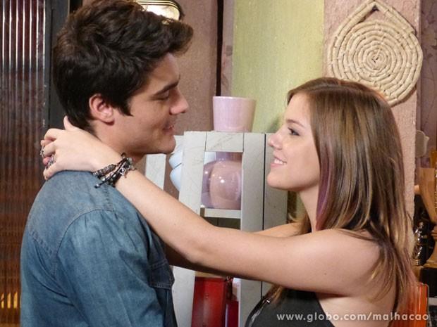 O amor venceu, glr! #LiTor voltou com tudo <3 <3 <3 (Foto: Malhação / Tv Globo)