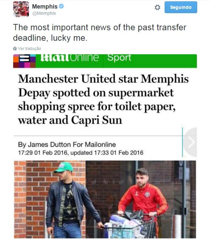 BLOG: Atacante do Manchester United é clicado fazendo compras e ironiza na internet