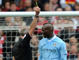 Mario Balotelli arsenal x  Manchester City (Foto: Getty Images)