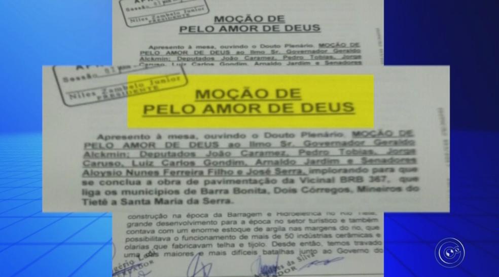 Vereadores de Barra Bonita aprovam moção de aplausos (Foto: Reprodução/TV TEM)