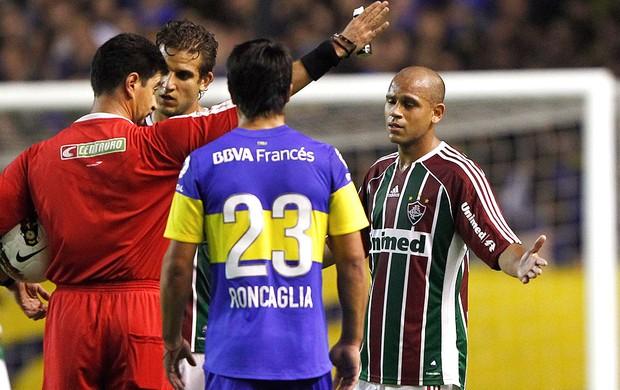 Carlinhos, Boca Juniors x Fluminense (Foto: Agência Reuters)