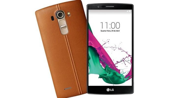 LG G4 na versão couro marrom (Foto: Divulgação/LG) (Foto: LG G4 na versão couro marrom (Foto: Divulgação/LG))