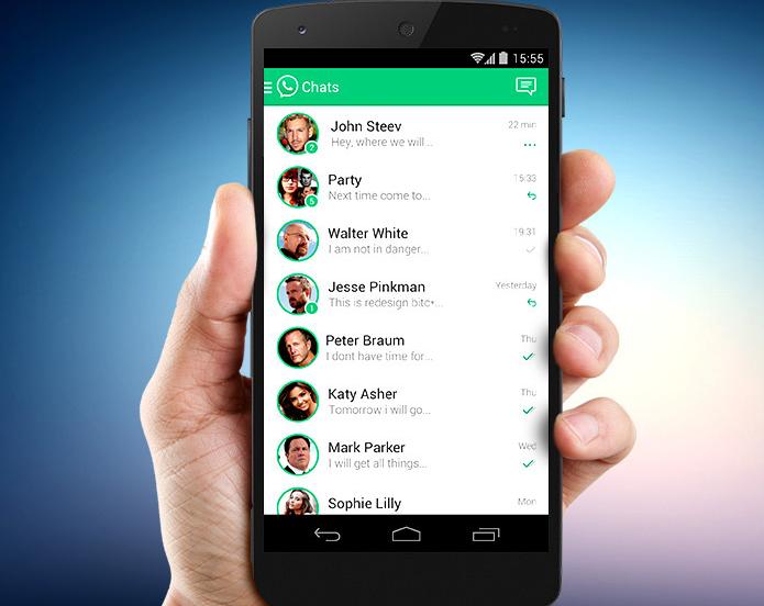 WhatsApp desenhado por brasileiro teria elementos do Messenger (Foto: Divulgação/Maycon Correia)