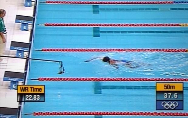 Eric moussambani natação chamada  (Foto: Reprodução)