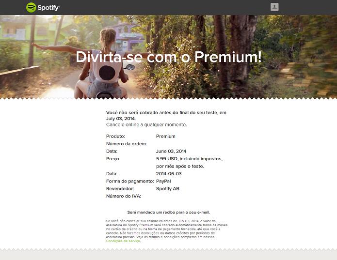 Confirme o pagamento (Foto: Thiago Barros/Reprodução)
