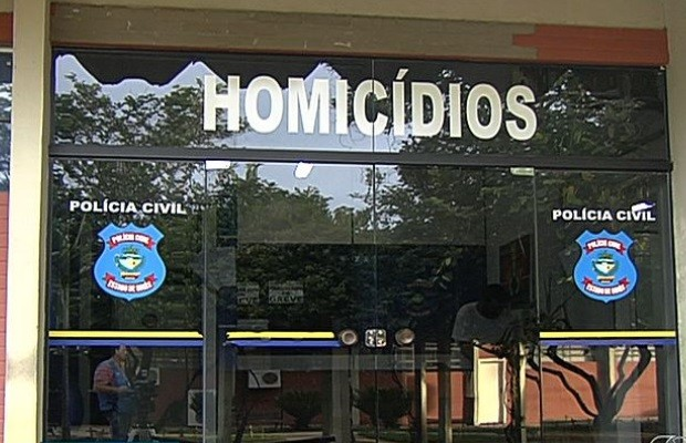 Delegacia Estadual de Investigação de Homicídios, Goiânia, Goiás (Foto: Reprodução/ TV Anhanguera)
