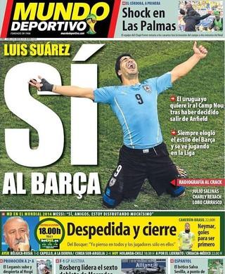 Suárez (Foto: Reprodução/Mundo Deportivo)
