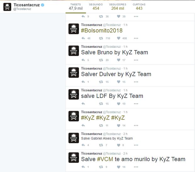 Tico Santa Cruz é alvo de hacker (Foto: Reprodução / Twitter)