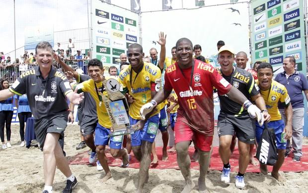 Seleção brasileira de futebol de areia Brasil Copa América (Foto: Marcello Zambrana/Inovafoto)