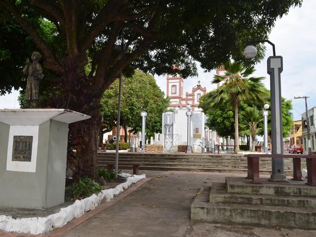 Praça do Centenário Santarém (Foto: Luana Leão/G1)
