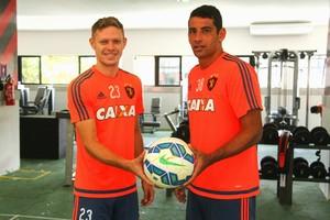 Diego Souza e Marlone Sport (Foto: Williams Aguiar/ Divulgação Sport)