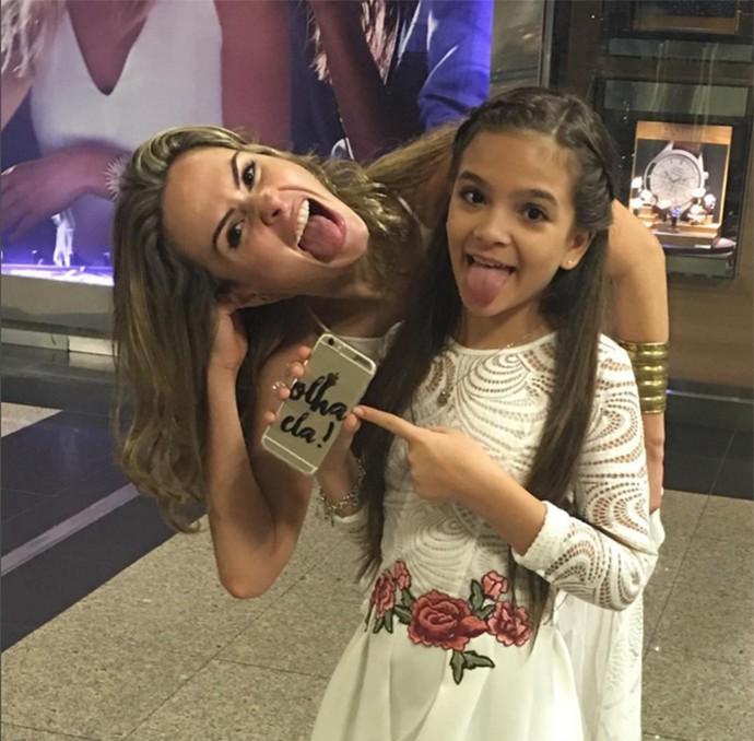 Ana Paula e Mel Mayer - dia 19demarço (Foto: Arquivo Pessoal)