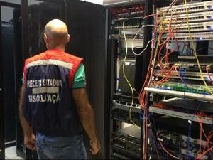 Operação Wireless em Juiz de Fora contra sonegação fiscal (Foto: Secretaria de Estado de Fazenda/Divulgação)