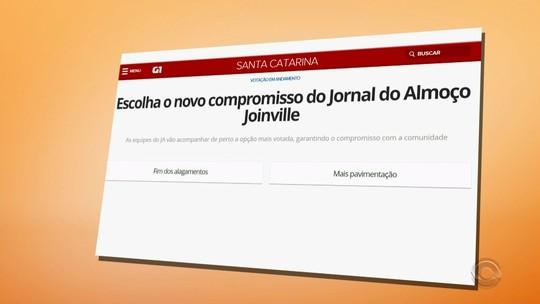 Vote e escolha o novo Compromisso do Jornal do Almoço de Joinville