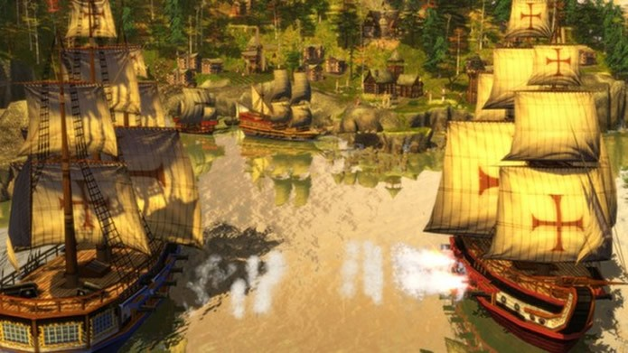 Explorações e conquistas do mundo colonial são a temática principal de Age of Empires III (Foto: Divulgação)