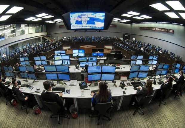 Centro de Operações da BM&FBovespa (Foto: Divulgação)