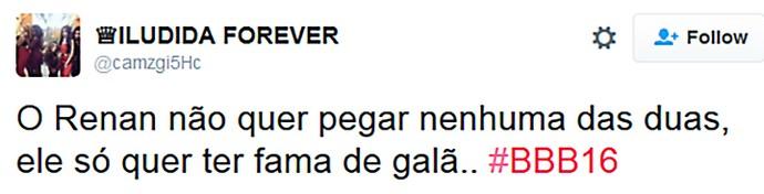 Twitter Festa Paranormal_Renan crítica  (Foto: TV Globo)