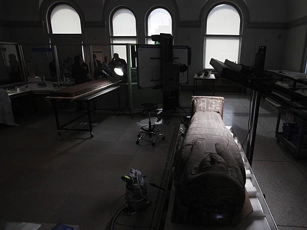 Múmia Egito (Foto: Jacqueline Larma/AP)