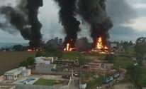 Incêndio atinge empresa de produtos químicos em Boituva (Reprodução/TVTEM)