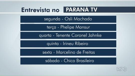 Paraná TV entrevista candidatos à Prefeitura de Foz do Iguaçu