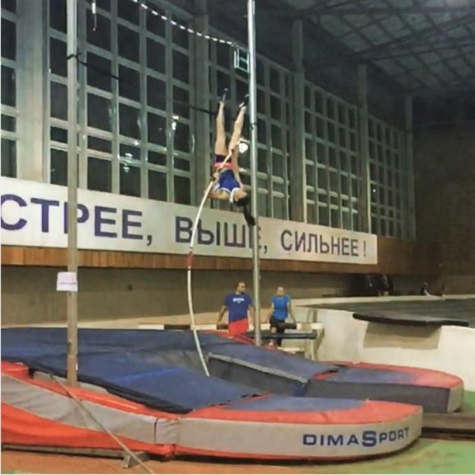 Yelena Isinbayeva treino salto com vara (Foto: Reprodução/Instagram)