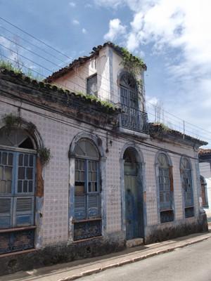 Casa onde Aluísio Azevedo morou em São Luís (Foto: Divulgação/IHGM)