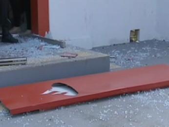 Assalto a banco termina com troca de tiros em Natividade da Serra (Foto: Reprodução/TV Vanguarda)