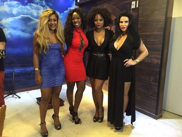 Cariucha, Adélia, Adriana Bombom e Solange Gomes (Foto: Divulgação)