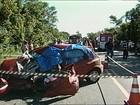 Colisão entre carro e caminhão causa três mortes em Restinga Seca, RS