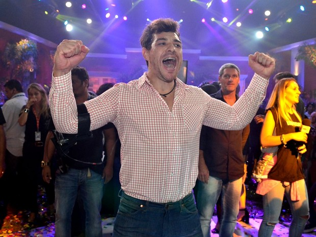 "Cézar Lima na final do ""Big Brother Brasil 15"" (Foto: Roberto Teixeira/ EGO)"