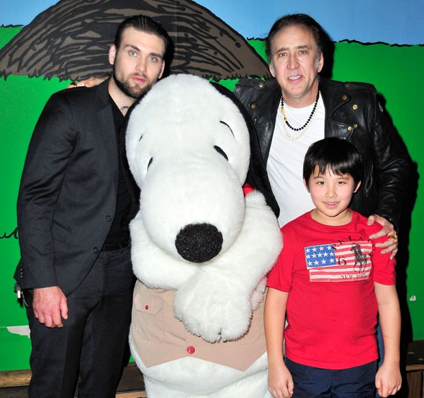 Nicolas Cage com os fihos, Weston e Kal-El (Foto: Jerod Harris/Getty Images)