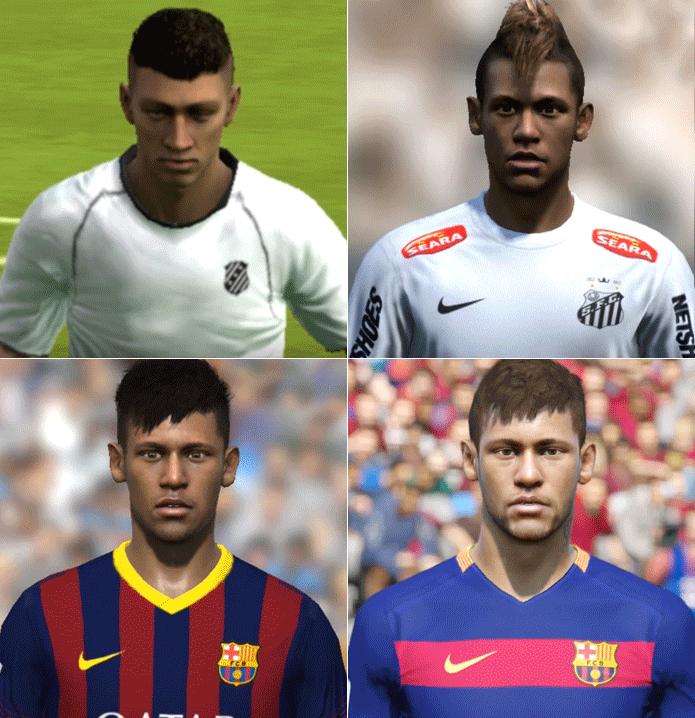 Neymar: que evolução do Fifa 10 para o Fifa 16, hein! (Foto: Reprodução/Thiago Barros)