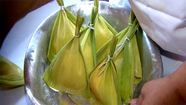 As delícias típicas da tradicional Festa do Milho Verde, em Piracicaba, SP (Foto: Reprodução EPTV)