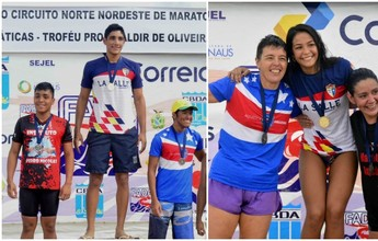 Leonardo Brasil e Elysa Oliveira reinam no Ciruito de Maratonas Aquáticas