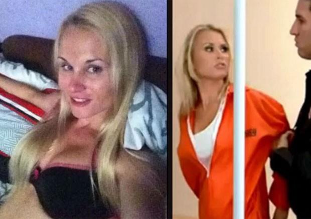 Atriz pornô Sona Muellerova foi presa após perseguição em alta velocidade em Praga (Foto: Reprodução/YouTube/TomoNews US)