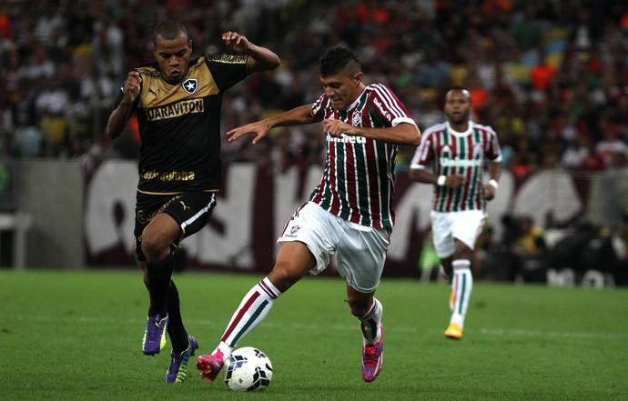 Edson marcou o gol da vitória do Fluminense sobre o Botafogo (Foto: Nelson Perez/Fluminense, Divulgação)