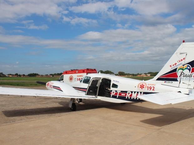 Samu Aéreo foi inaugurado em Teresina (Foto: Gil Oliveira/ G1)